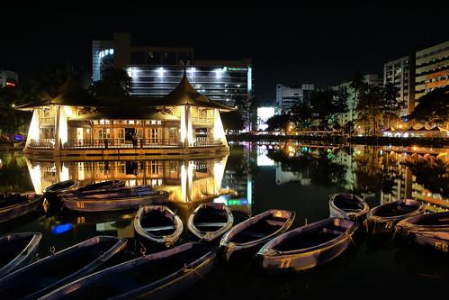 city park by night