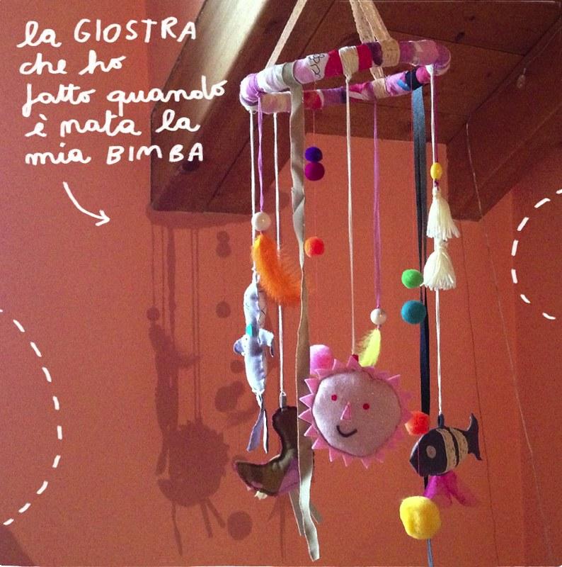 giostra handmade neonata