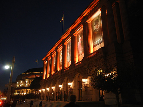 DSCN7870 - San Francisco Opera Housel in SF Giants' Orange Glow