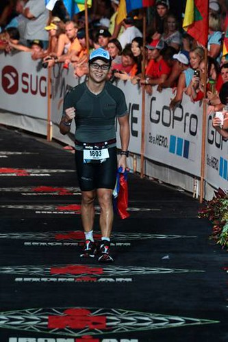 Gadric Chusenfu at the Ironman World Championships 2014
