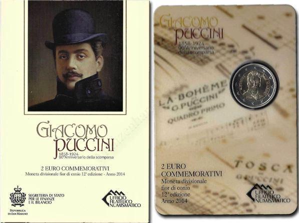 *Oficiálne bal. 2 Euro San Marino 2014, Puccini