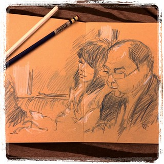 #japon #metro #urbansketch #kraft #colerase #portraits