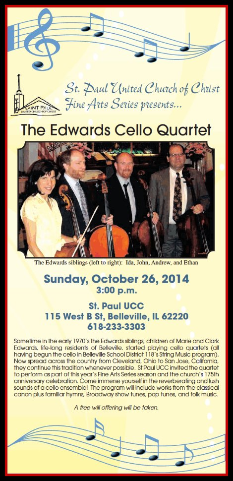 Edwards Cello Quartet 10-26-14