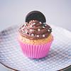 Vaniljcupcakes med chokladfrosting