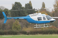 G-BXDS - 1979 build Bell 206B Jet Ranger III, inbound to Barton for fuel