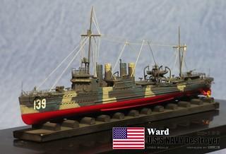 【玩具人'詹波'投稿】1/700美國驅逐艦DD-139沃德號