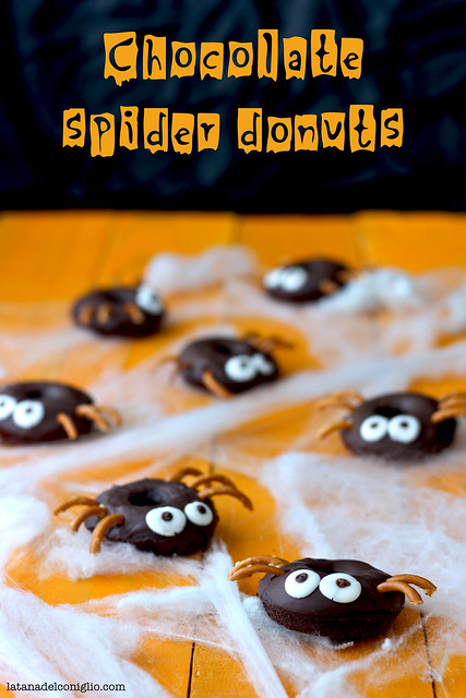 Chocolate spider donuts