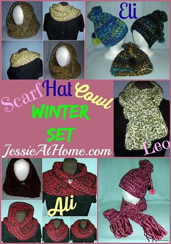 Winter Set Crochet Patterns by Jessie At Home