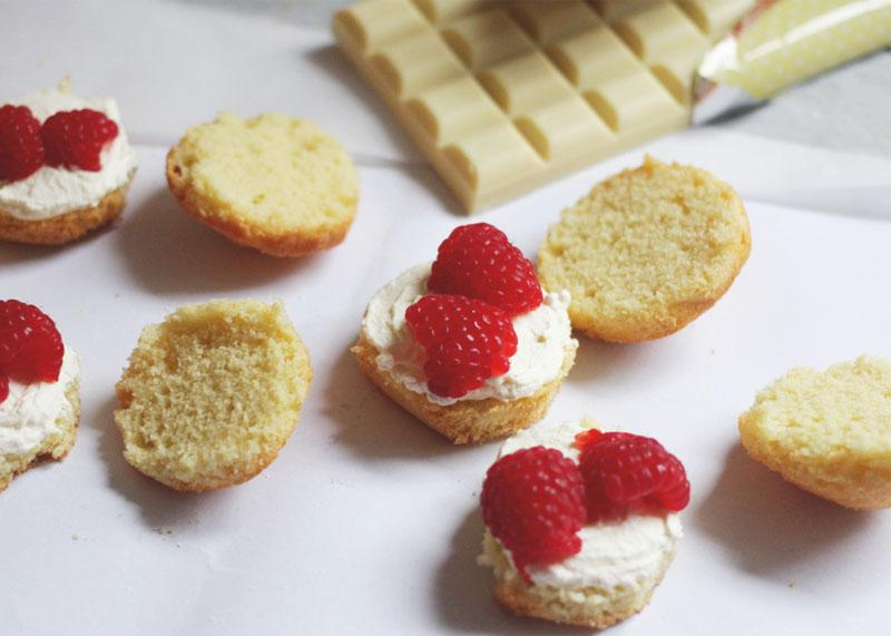raspberry and white chocolate cupcakes, Bumpkin Betty