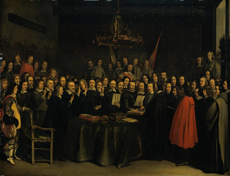 The Ratification of the Treaty of Munster by Gerard Ter Borch