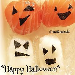 *happy halloween* sushi #japan #sushi #halloween #dinner #semihomemade