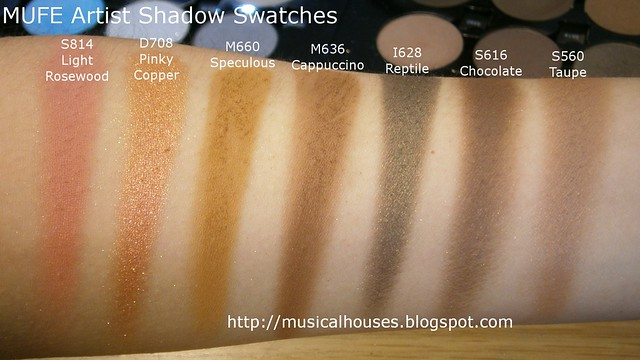MUFE Artist Shadow Eyeshadow Swatches 2 Row 2