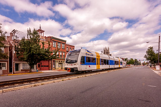 The River Line Train in Burlington, NJ,