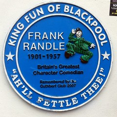 Photo of Frank Randle blue plaque