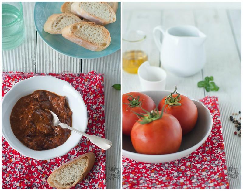 Dip de crema de tomate 2 Collage