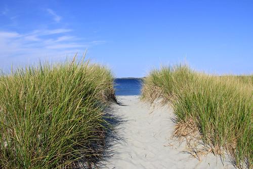 sky canada beach nature water clouds sand day novascotia clear atlanticocean taylorhead