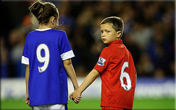 picture of Liverpool children wearing 96