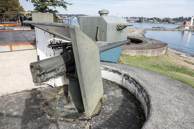 Old guns stand guard