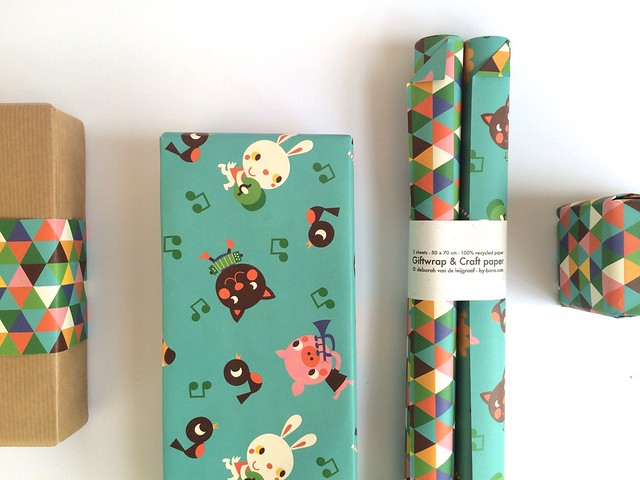 Giftwrap and crafting paper - Retro Animals