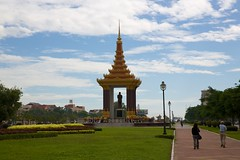 Statue of Norodom Sihanouk, Phnom Penh, Cambodia