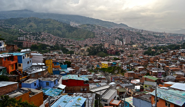 view from the top of comuna 13 medellin, colombia