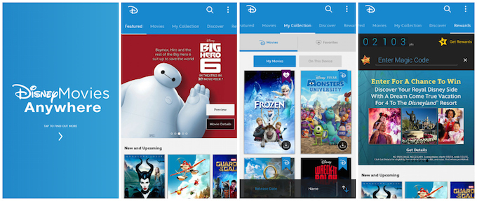 free digital copy codes movies anywhere