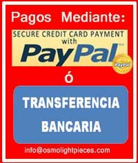 pago mediante paypal o transferencia