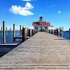 Another lovely fall afternoon at Roanoke Marshes Lighthouse on the downtown Manteo waterfront. // Photo by @jessilou4 // #iloveobx #outerbanks #obx #visitnc #vacation #fall #lighthouse