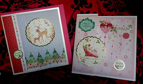 Hunkydory Christmas cards 2014