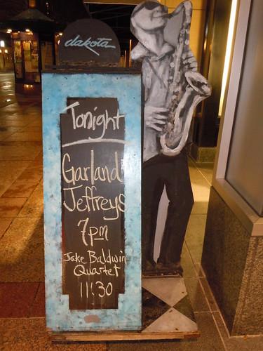 11/07/14 Garland Jefferys @ Dakota Jazz, Minneapolis, MN (Dakota Jazz Sidewalk Sandwich Board Sign)