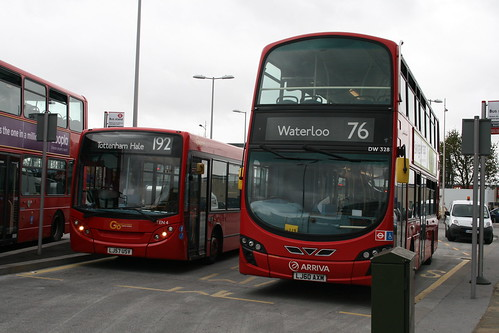 London General TEN4 (Route 192) and Arriva London DW328 (Route 76), Tottenham Hale Bus Station