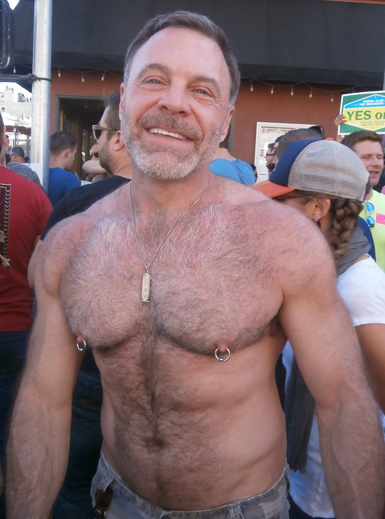 EVERYONES FAVORITE HAIRY HUNK! 2014 CASTRO STREET FAIR ! (safe photo)