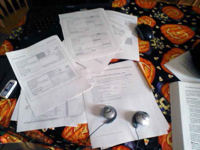 Tax homework!