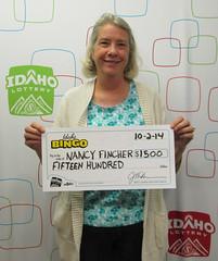 Nancy Fincher - $1,500 Idaho Bingo
