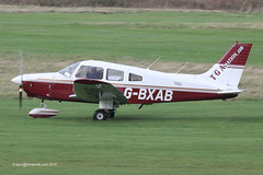 G-BXAB - 1984 build Piper PA-28-161 Cherokee Warrior II, rolling for departure on Runway 26R at Barton