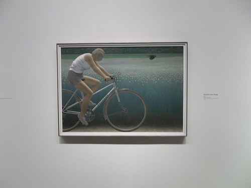 "Alex Colville, ""Cyclist and Crow"" (1981)"