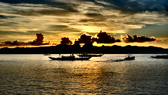 Sunset at Lagen Island Resort. El Nido, Palawan, Philippines