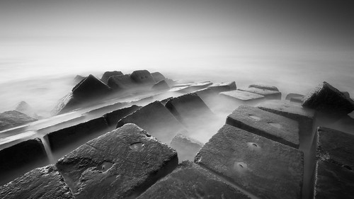 longexposure sea blackandwhite bw bali 6 seascape beach monochrome rock indonesia landscape concrete nikon cement hard wave lee cube nd bnw breaker graduated klungkung waterscape wavebreaker 1635mm gnd kusamba d810 bigstopper karangdadi gelisrauh
