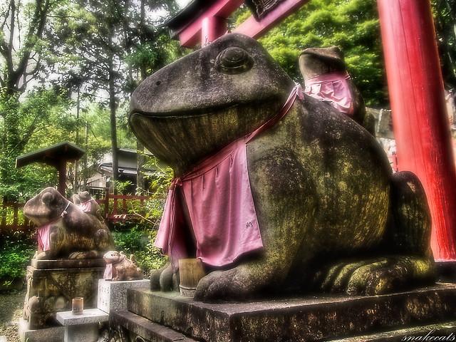 「狛蛙」 伏見稲荷 - 京都
