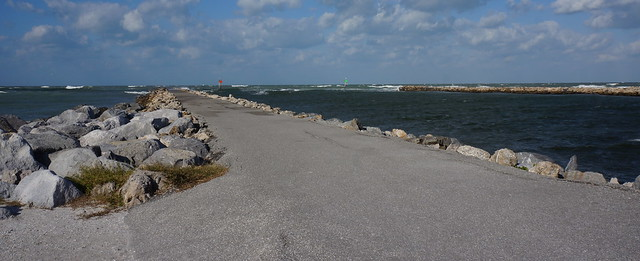 the south jetty...