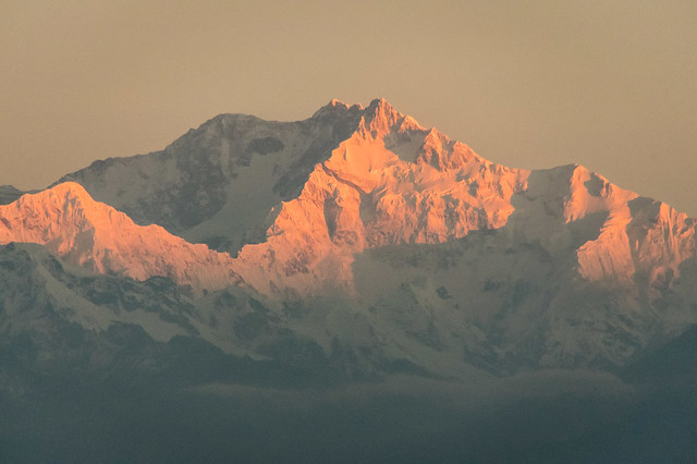 Kanchenjunga at sunrise