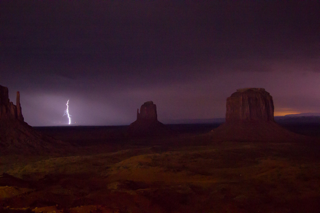 Lightning Storm in Monument Valley