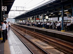 Rush hour at Sakaide Station