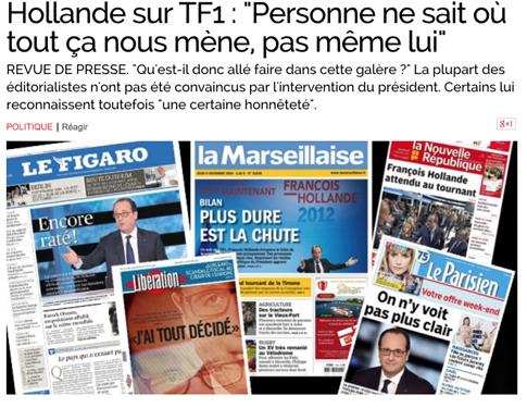 14k07 Obs Nadie sabe donde vamos Hollande tampoco