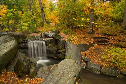 newyorkcity longexposure autumn trees usa newyork fall beautiful canon landscape waterfall unitedstates manhattan unitedstatesofamerica falls fallfoliage theravine canon5dmkiii 5dmkiii