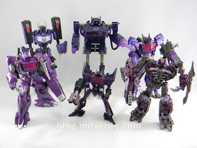 Transformers Hunter Shockwave Voyager - Transformers Go - modo robot vs otros Shockwave