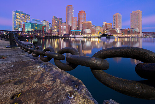 boston skyline sunrise twilight cityscape massachusetts bluehour bostonharbor canon6d canonef14mmf28lii