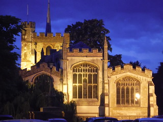 St. Mary's, Hitchin in dusk