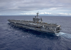 USS Carl Vinson (CVN 70) operates in the Pacific, Feb. 4. (U.S. Navy/MC2 Sean M. Castellano)