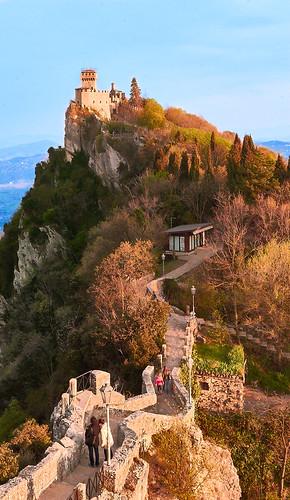 san marino italy italia rsm torre tower sunset landscape panorama sony sonya7 sonya7mii color sky trees